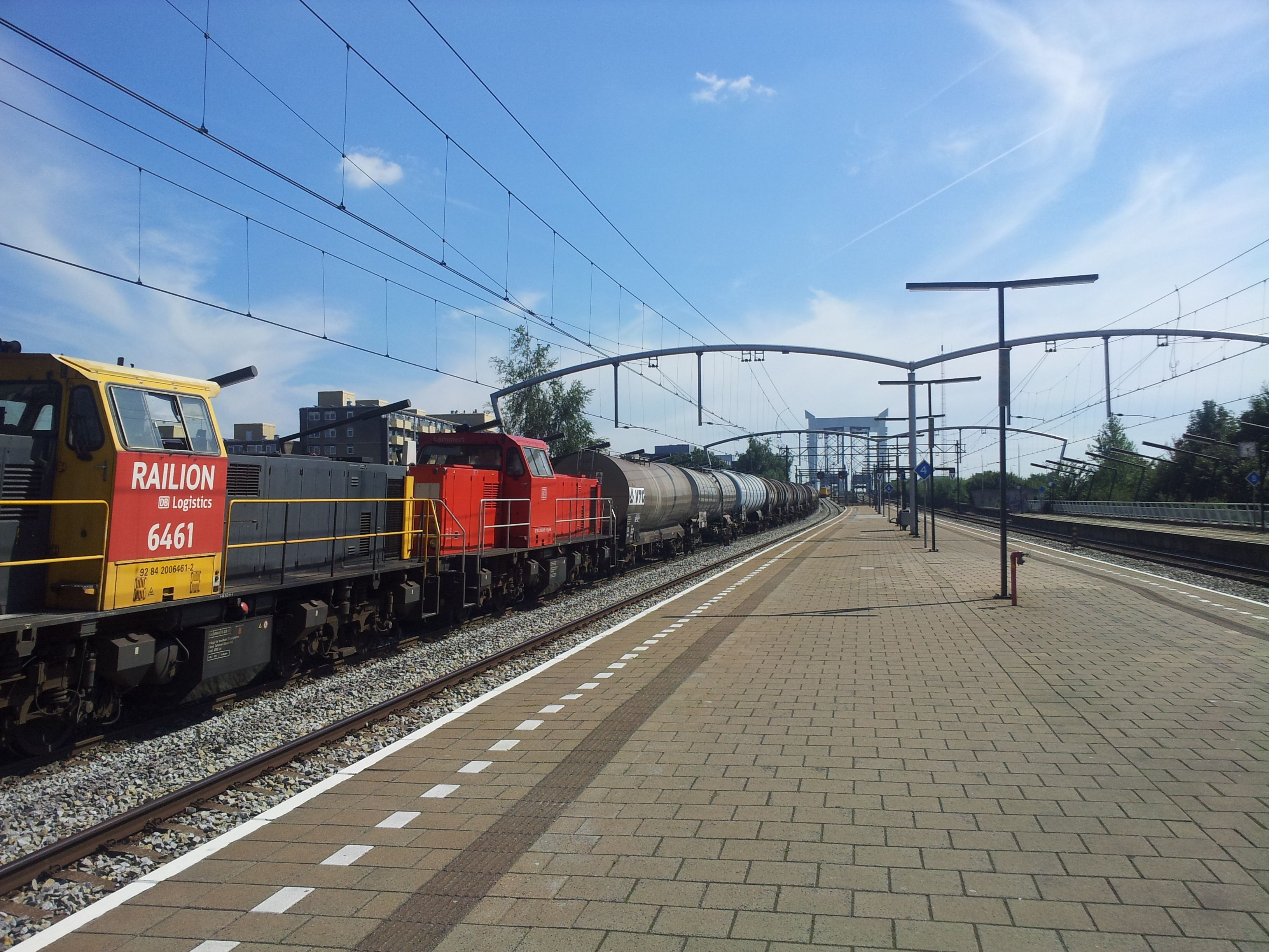 Train at railway station Zwijndrecht Netherlands