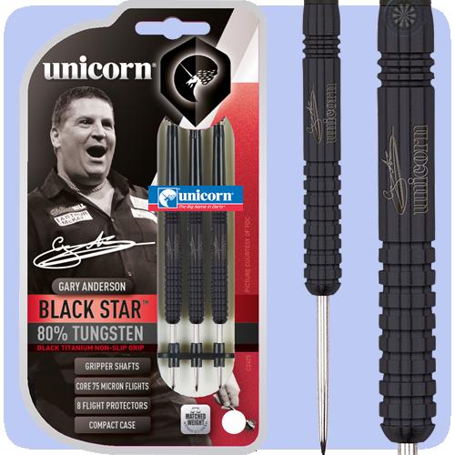 Unicorn Gary Anderson Silver Star 80/% Tungsten Darts 22g