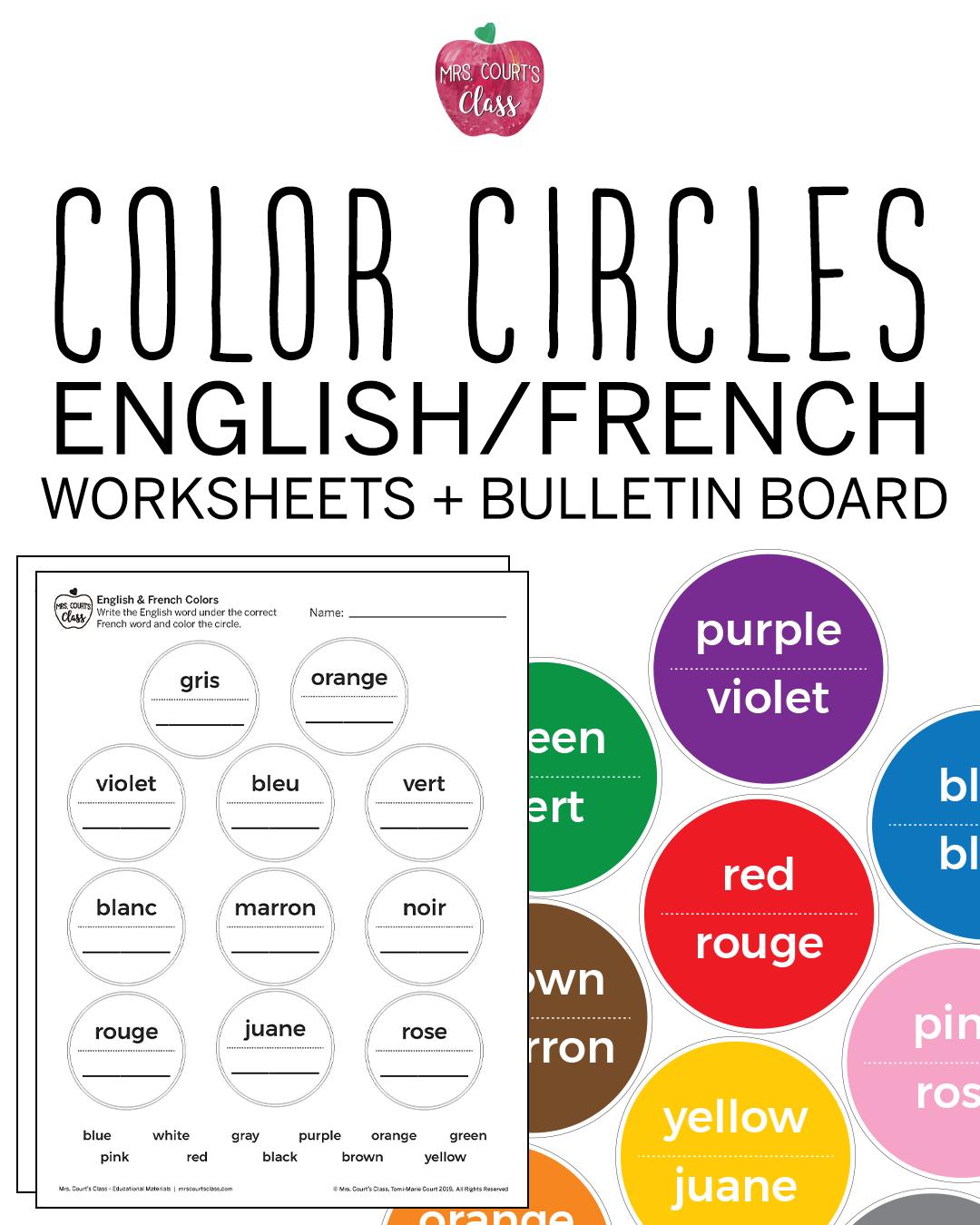 Colors Bulletin Board Set