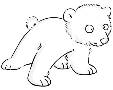 Cute Polar Bear Baby Coloring Page From Polar Bears Category Select From 20946 Polar Bear Coloring Page Baby Polar Bears Polar Bear Images