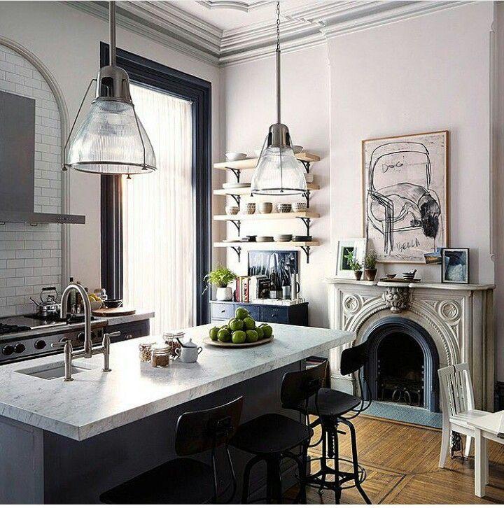 Chimenea francesa en house pinterest for Diseno de cocina francesa
