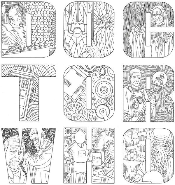 Adult Coloring The Official Doctor Who Colouring Book Release Date 2016