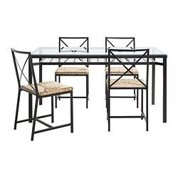 Granås Table And 4 Chairs Black Glass  Dining Sets Apartments Unique Ikea Glass Dining Room Table 2018