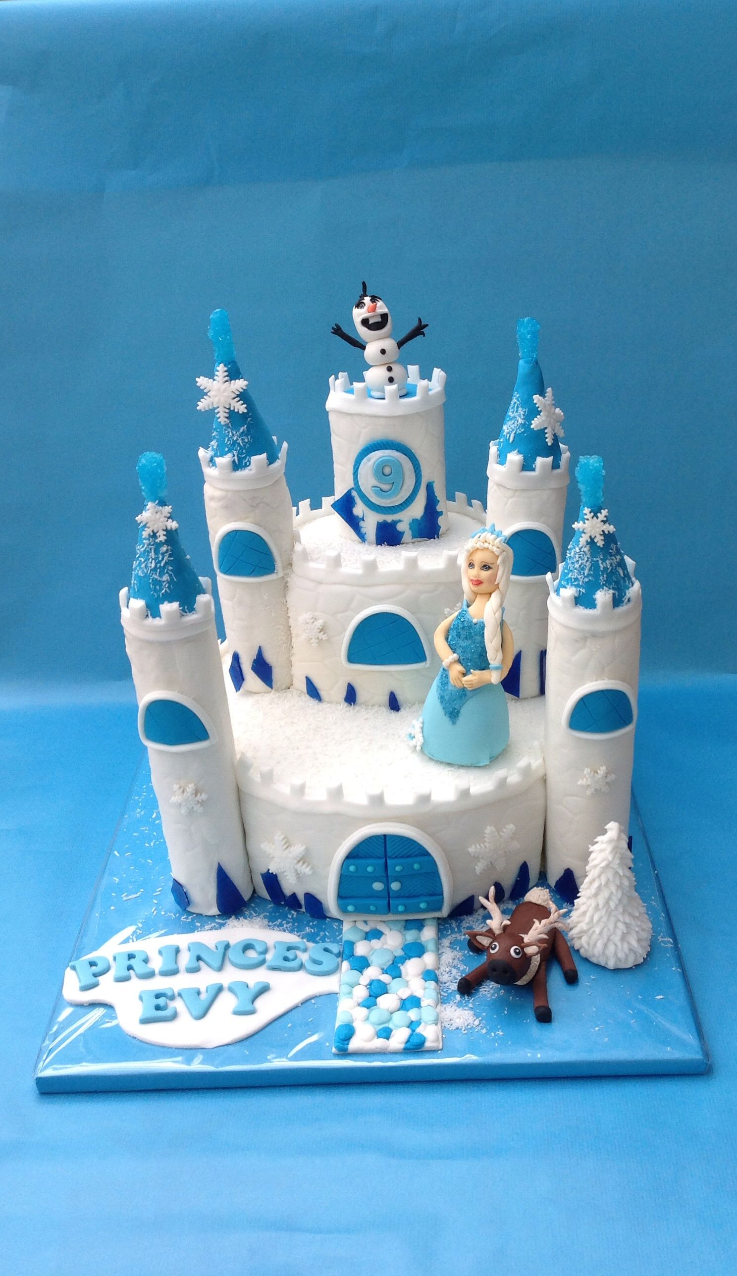 Wonderlijk Mijn frozen kasteel taart | Mia | Pig birthday cakes, Peppa pig ZR-34