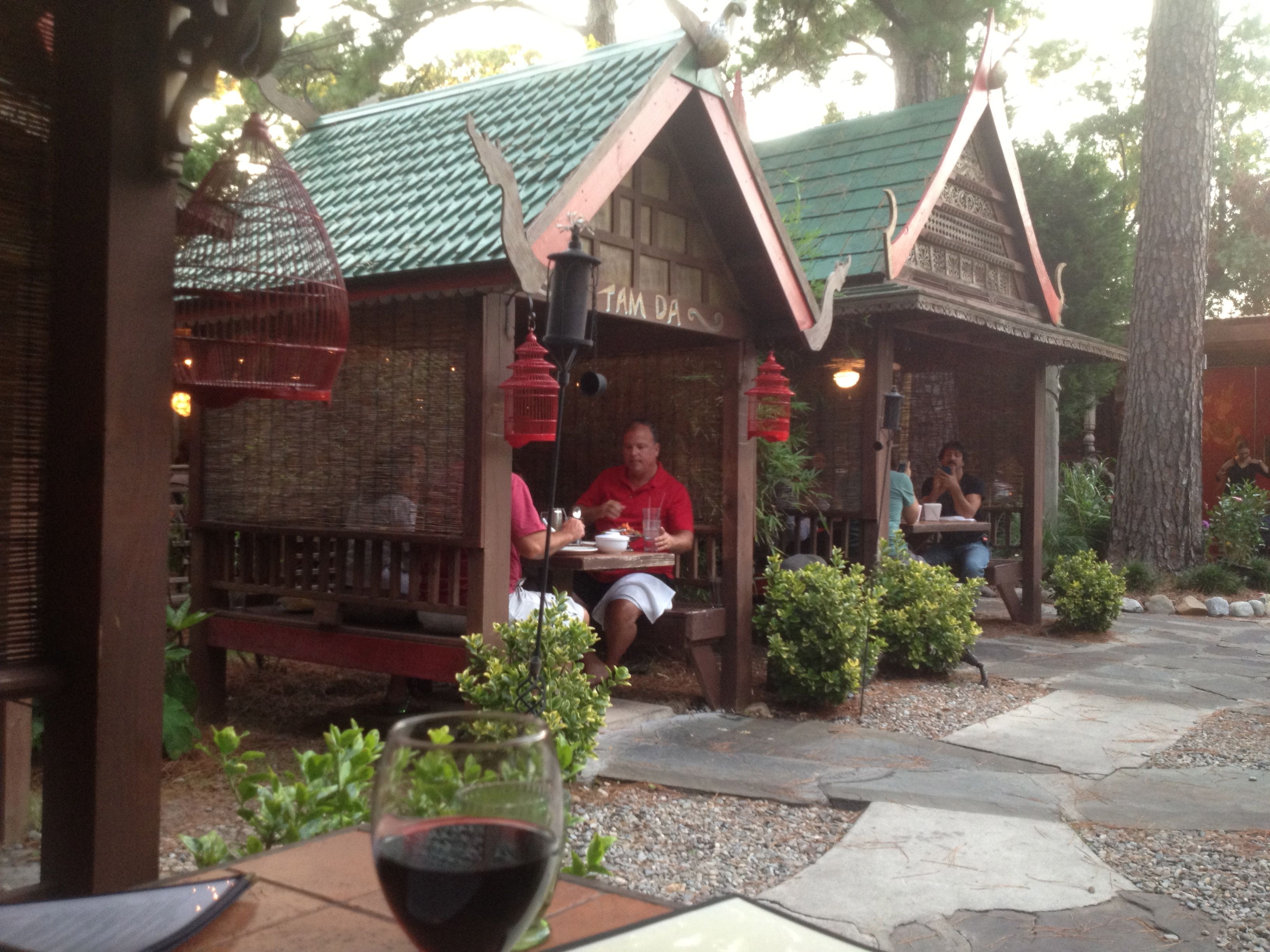 Indochine s outdoor seating Wilmington NC Great Thai cuisine