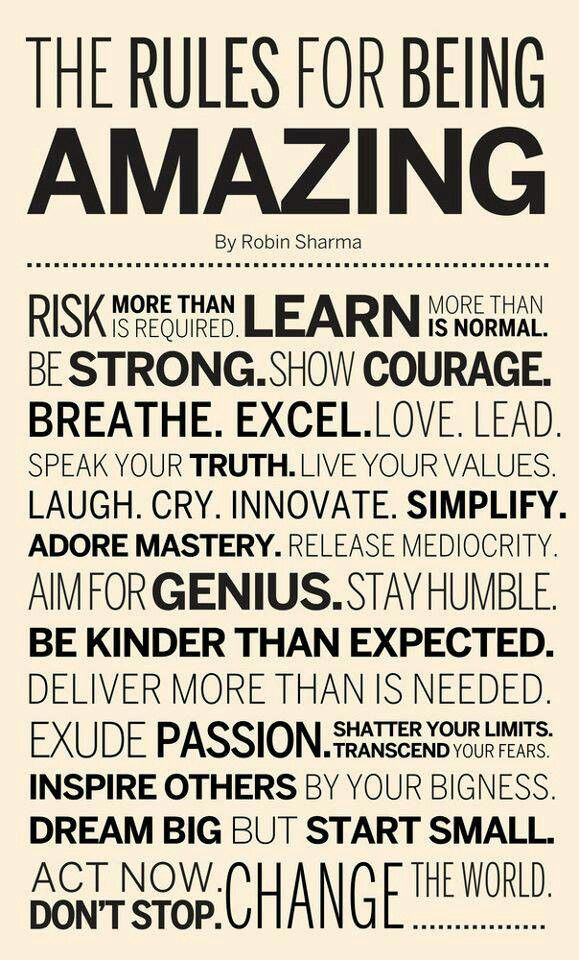 Lets all be amazing!!!!