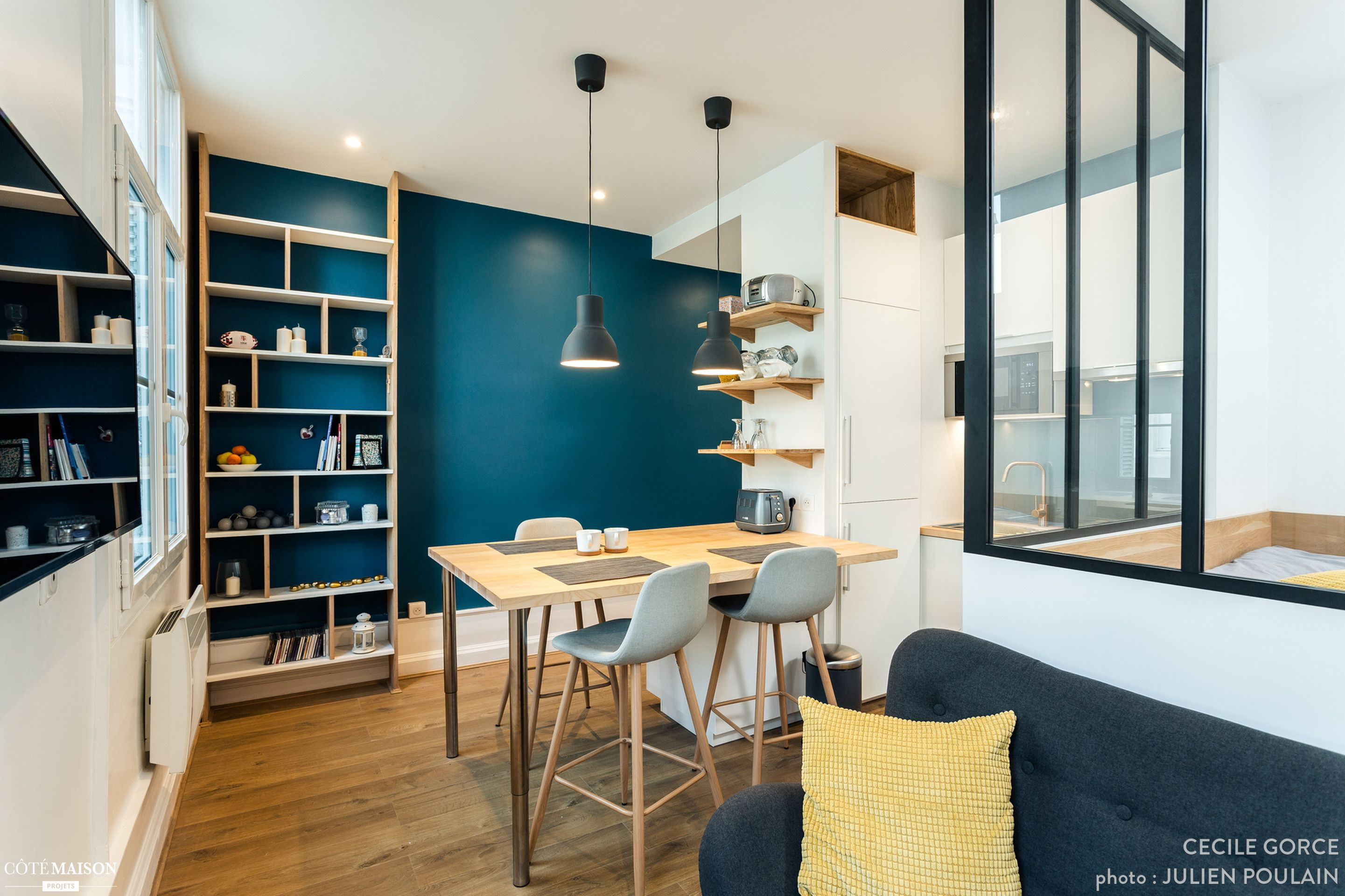 Coin Chambre Dans Petit Salon projet : aménagement d'un studio de 25 m2 en coin nuit, coin