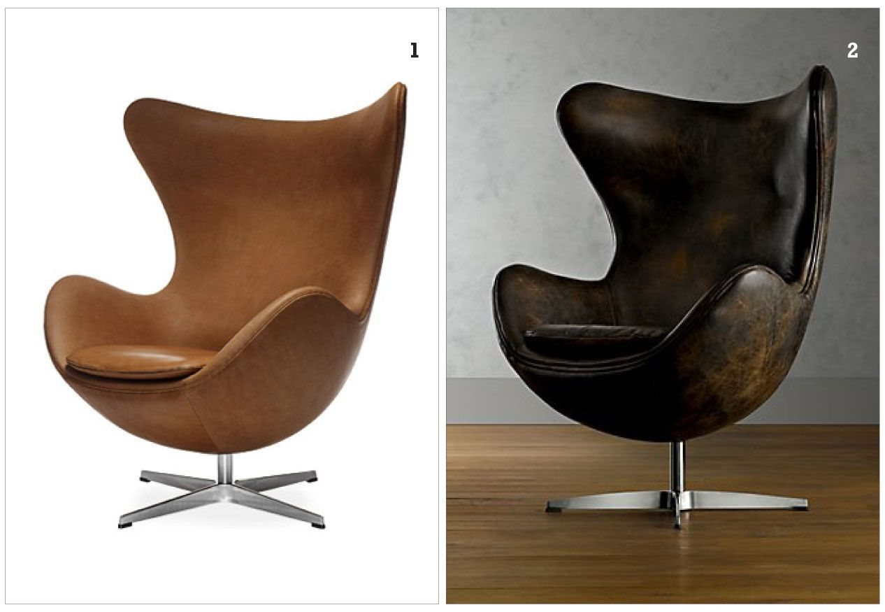 Arne jacobsen egg chair leather -  Carl Jacobs Chairs