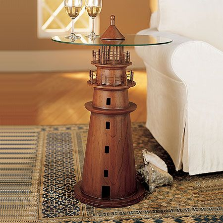 Loving This Lighthouse Side Table Wood Turning