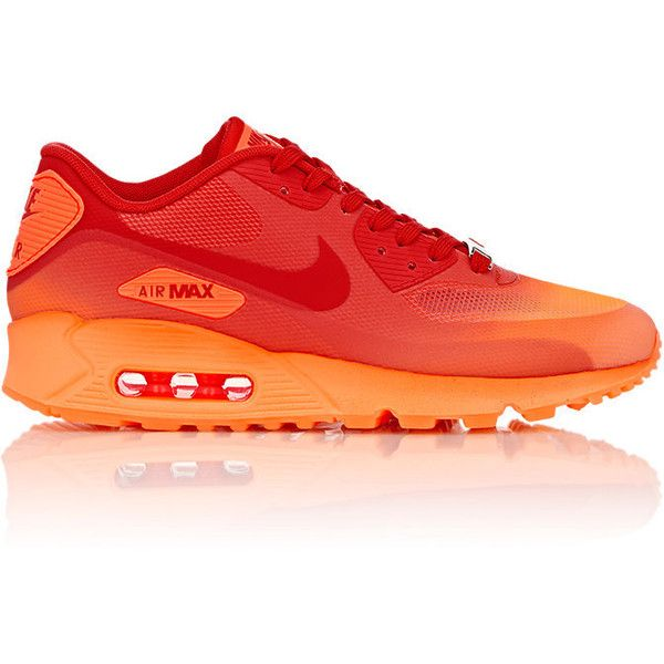 buy popular 22b50 f2735 Nike Air Max 90 Hyperfuse QS Milan Sneakers (150) ❤ liked on Polyvore  featuring shoes, sneakers, red, shiny shoes, red flat shoes, lacing  sneakers, ...