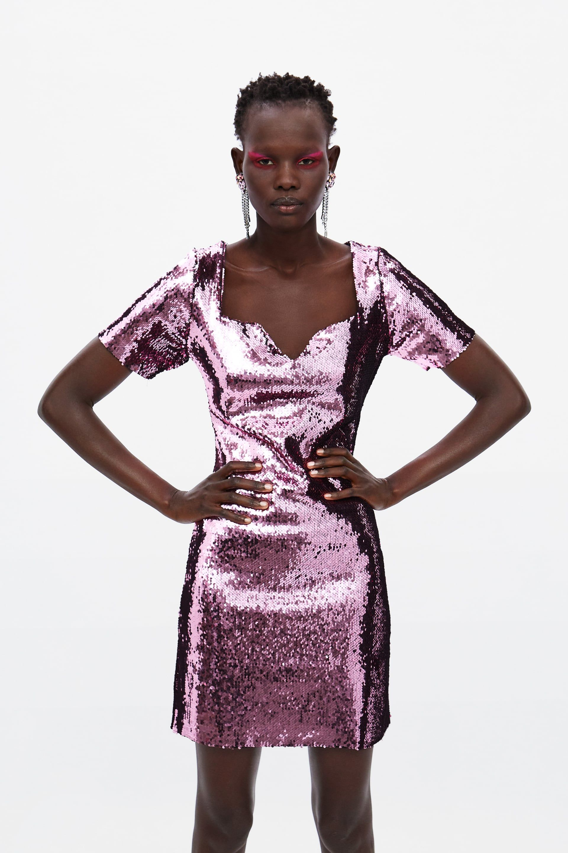 7fc620a5 SEQUIN DRESS - Sequins-DRESS TIME-WOMAN-CORNER SHOPS   ZARA United States