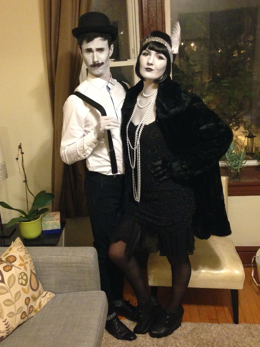Gray Scale Old Timey Couples Halloween Costume