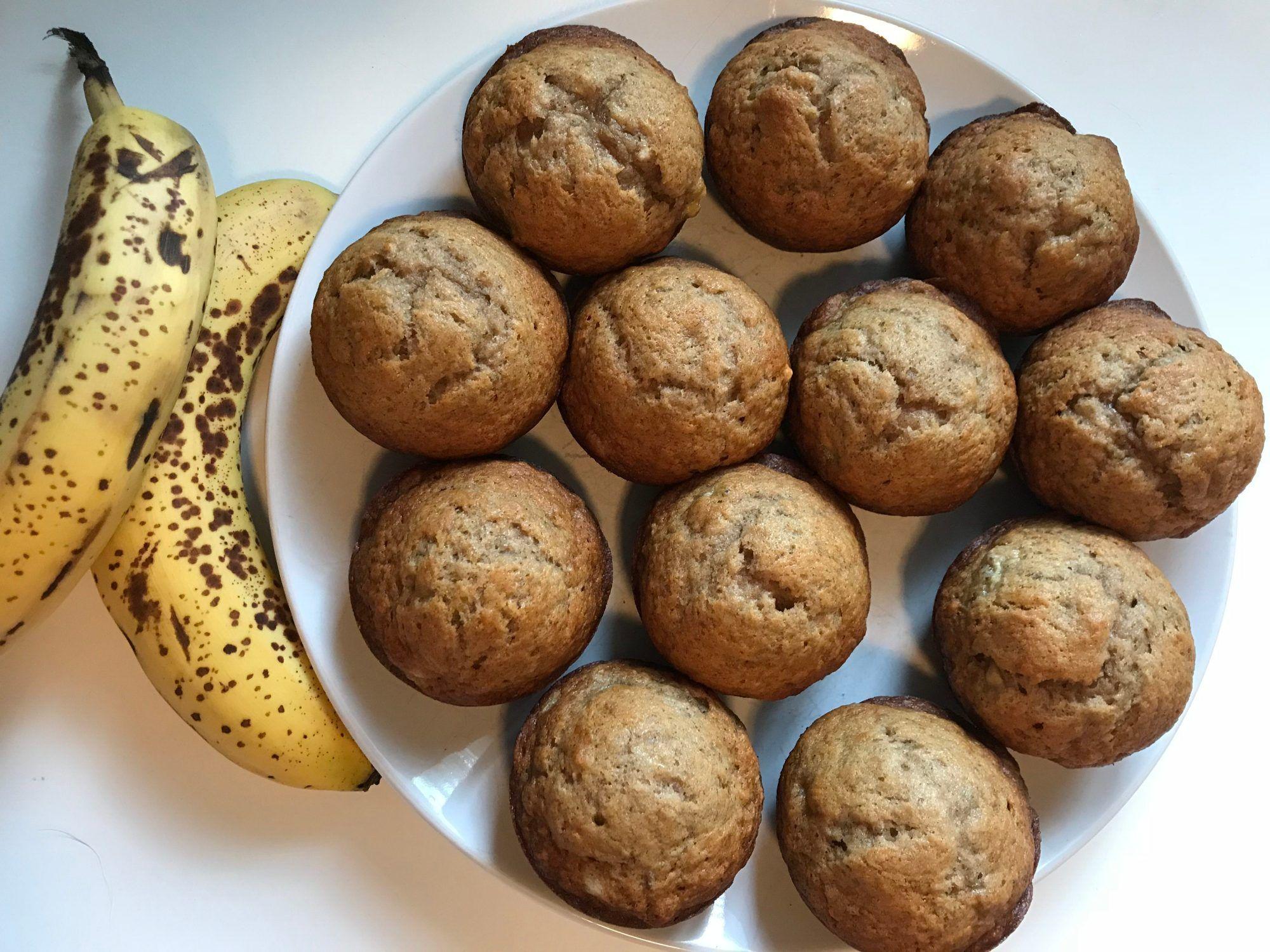 Top Rated Pinterest Simple Banana Bread Muffins Recipe In 2020 Banana Bread Muffins Easy Banana Bread Banana Bread