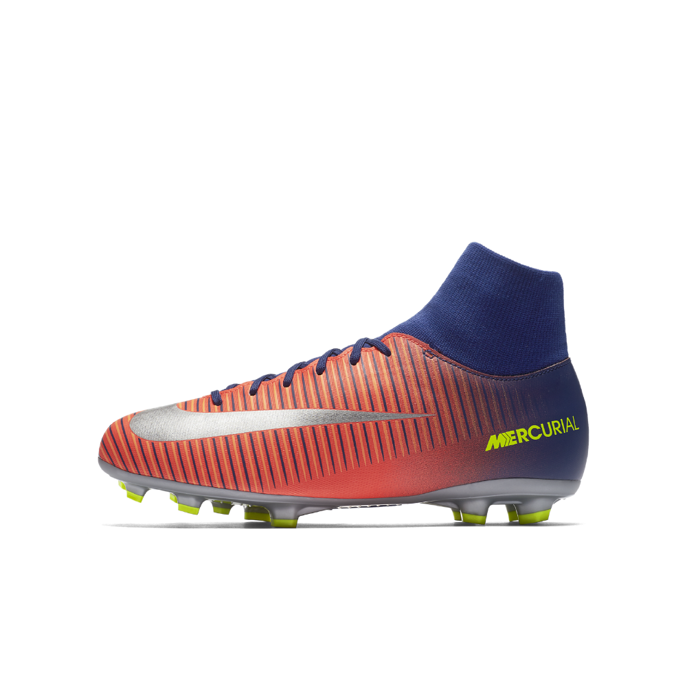best service bfd64 7ede3 Nike Jr. Mercurial Victory VI Dynamic Fit Little Big Kids  Firm-Ground  Soccer Cleats Size 5.5Y (Blue)