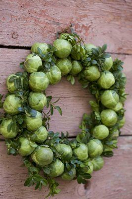 Brussel sprouts wreath...