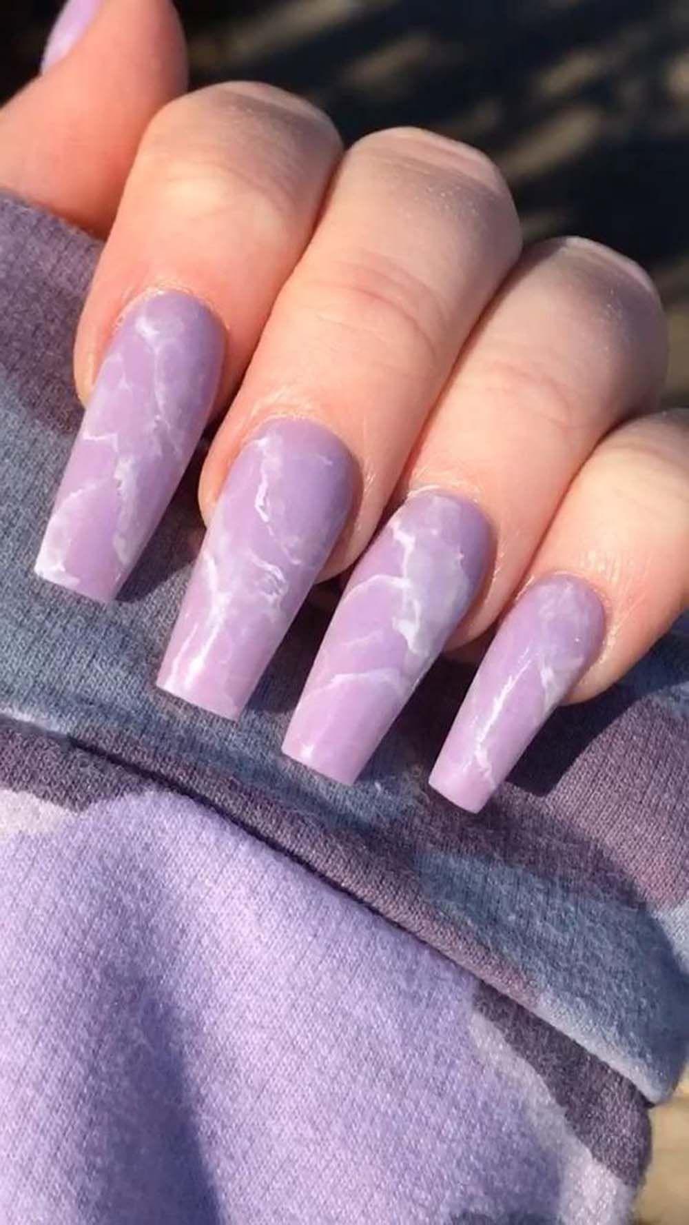 15 Mesmerizing Purple Nail Design Ideas Best Nail Art Designs Ideas In 2020 Purple Nails Purple Acrylic Nails Purple Nail Designs
