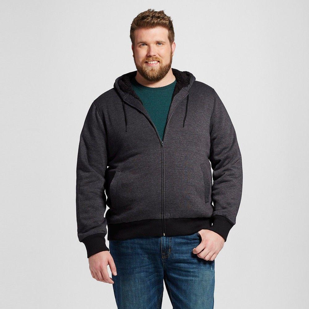 Menus big u tall sherpa fleece jacket black xxxl mossimo supply co