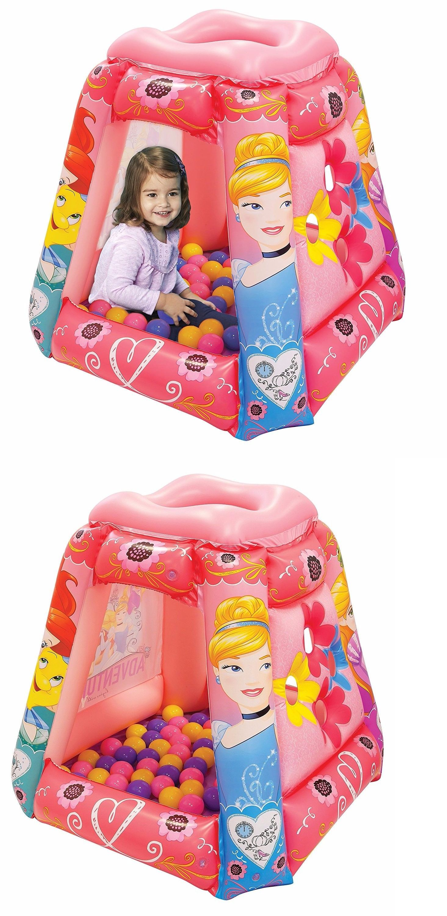 Pit Balls Disney Princess Playland 20 Balls Play Bin Tent