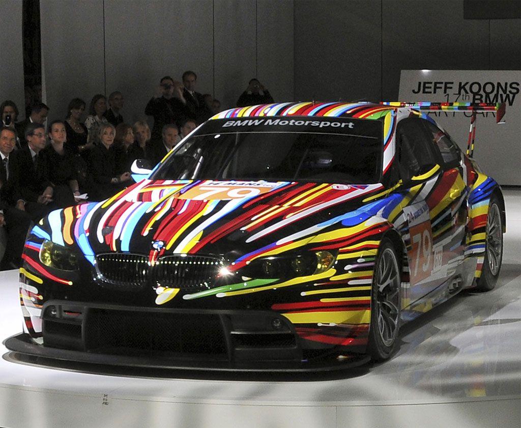 Bmw Art Car Jeff Koons Car Art Bmw Art Art Cars