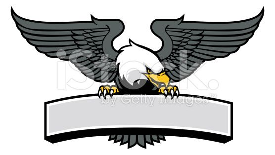 vector of eagle mascot griping the sign   орел   Eagle