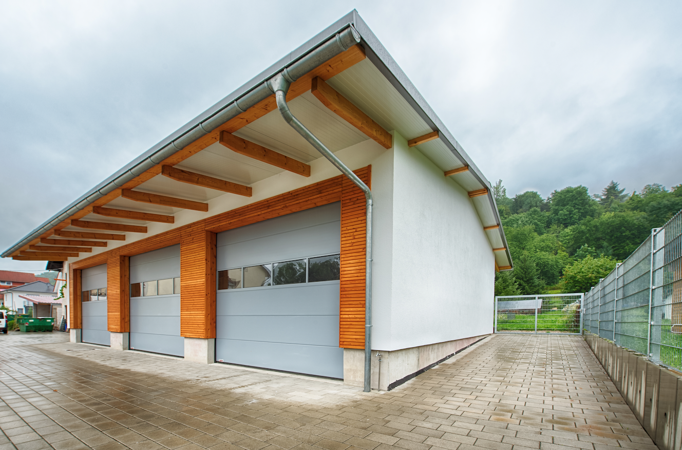 Holzhalle-Satteldach-Weinheim | FH Finnholz | Neubau ...