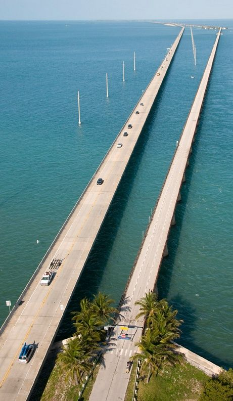 Florida Keys: One Of The Many Bridges Between The Islands