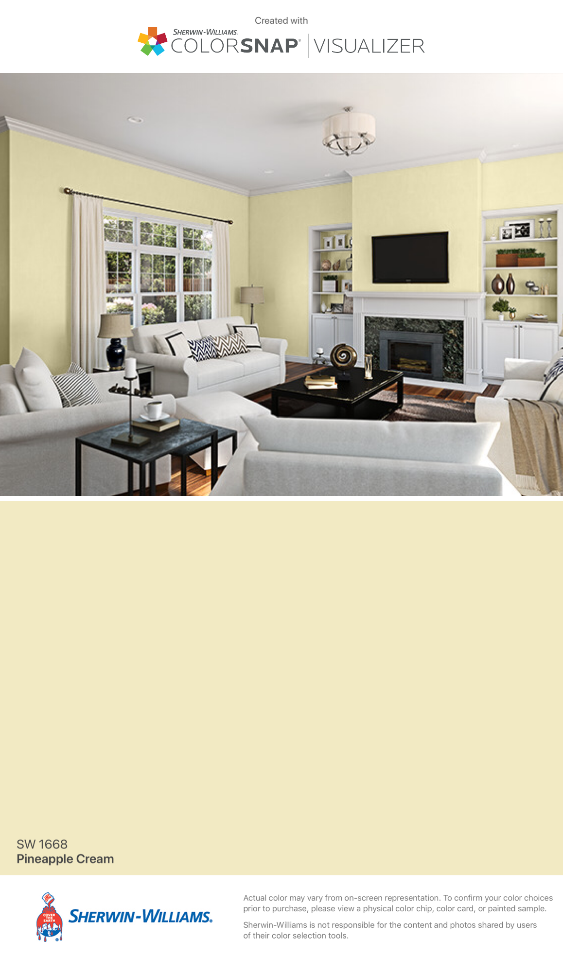 I Found This Color With Colorsnap Visualizer For Iphone By Sherwin Williams Pineapple Cream Sw 1668 Paint Colors For Living Room Sherwin Williams Home