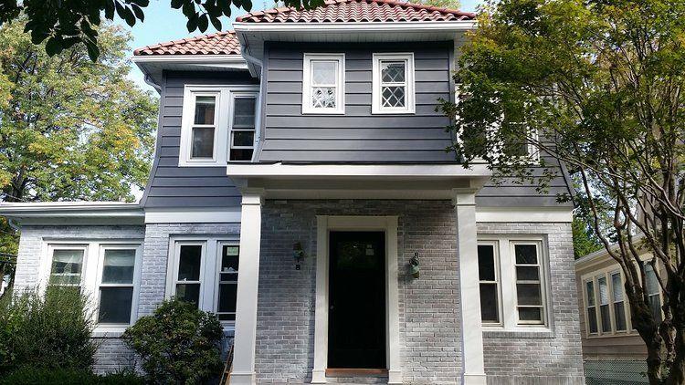 Aluminum Siding Painting Brick Whitewashing Colonial House Exteriors Whitewash Brick House White Brick Houses