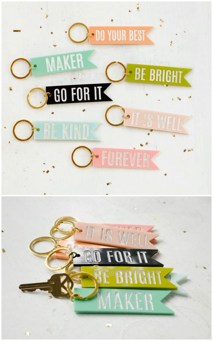 Acrylic Tag Key Chains With Sayings On Them, Perfect For Gifts! These  Keychains Are