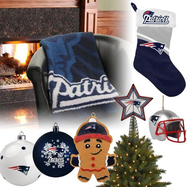 New England Patriots Christmas Ornaments, Stocking, Tree