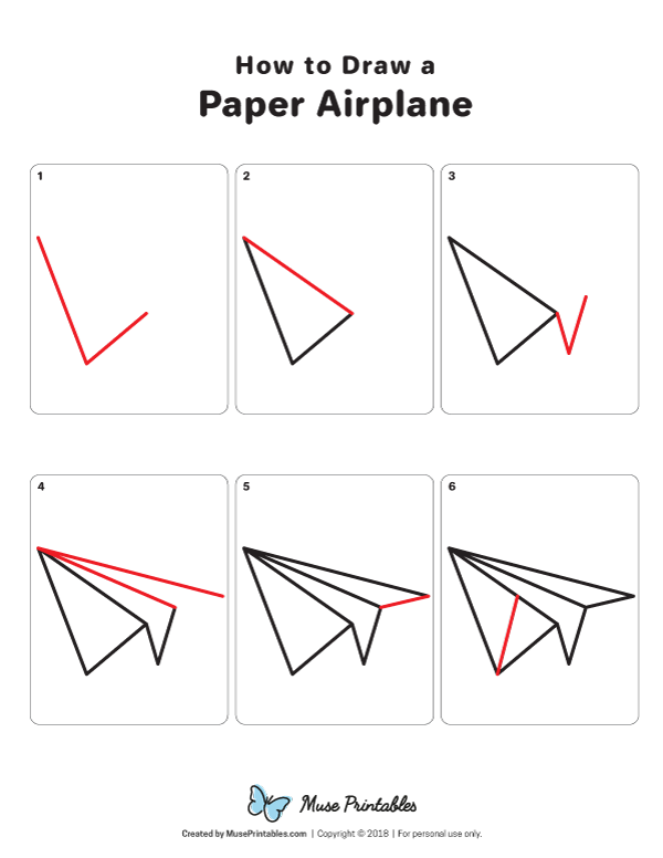Learn How To Draw A Paper Airplane Step By Step Download A