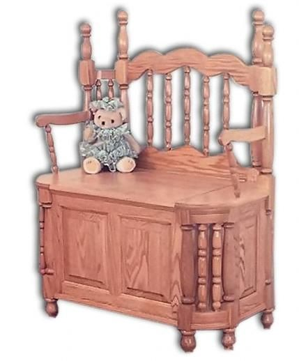 Jake's Amish Furniture - #WWW-4501 Wrap Around Storage Bench