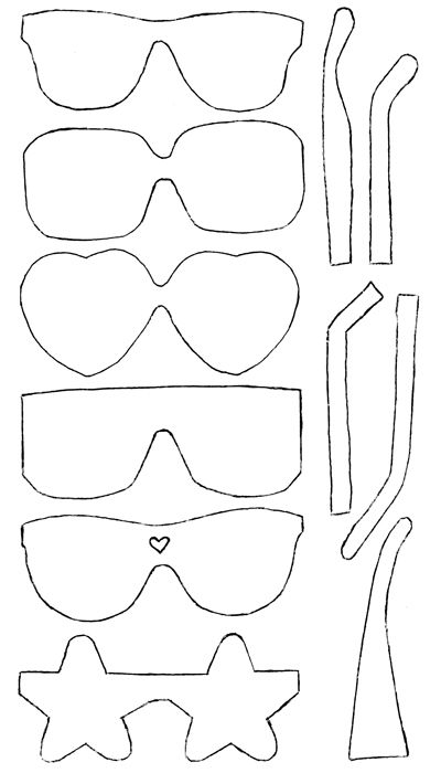 cute sunglass cut outs. | preschool finds | Pinterest