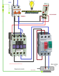 Esquema Conexión Motor Monofasico Contactor Guardomotor Reloj Horario Esquemas Electricos Diagrama De Circuito Eléctrico Instalación Electrica