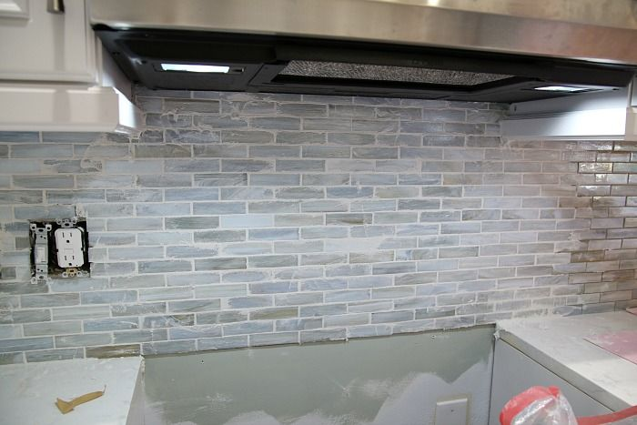 Installing A Paper Faced Mosaic Tile Backsplash Pinterest Grout