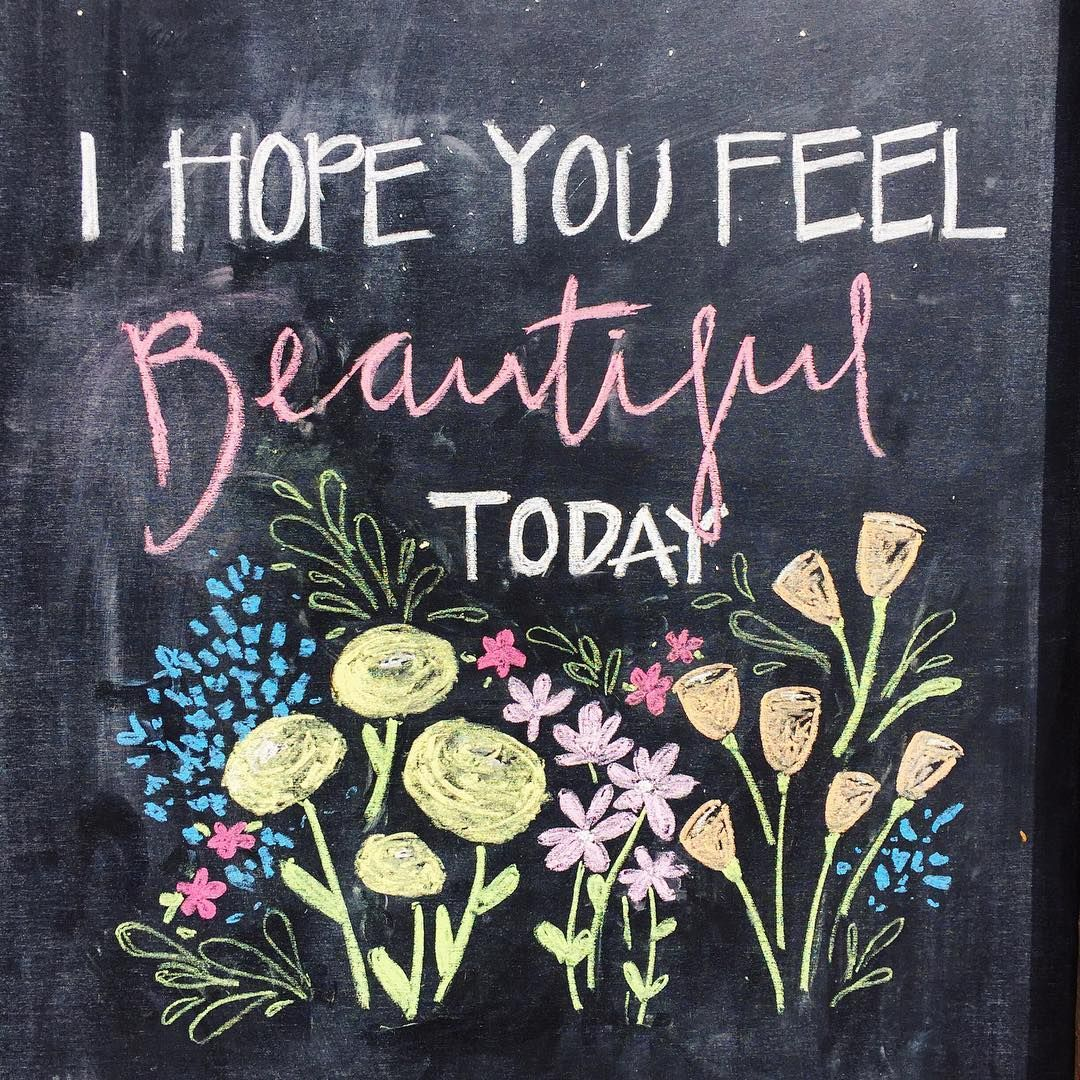 I found this for you ☺️ I hope you feel beautiful today #youarebeautiful #wordstoliveby