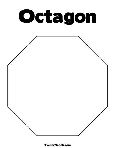 Octagon Coloring Page Shapes Preschool Preschool Coloring Pages
