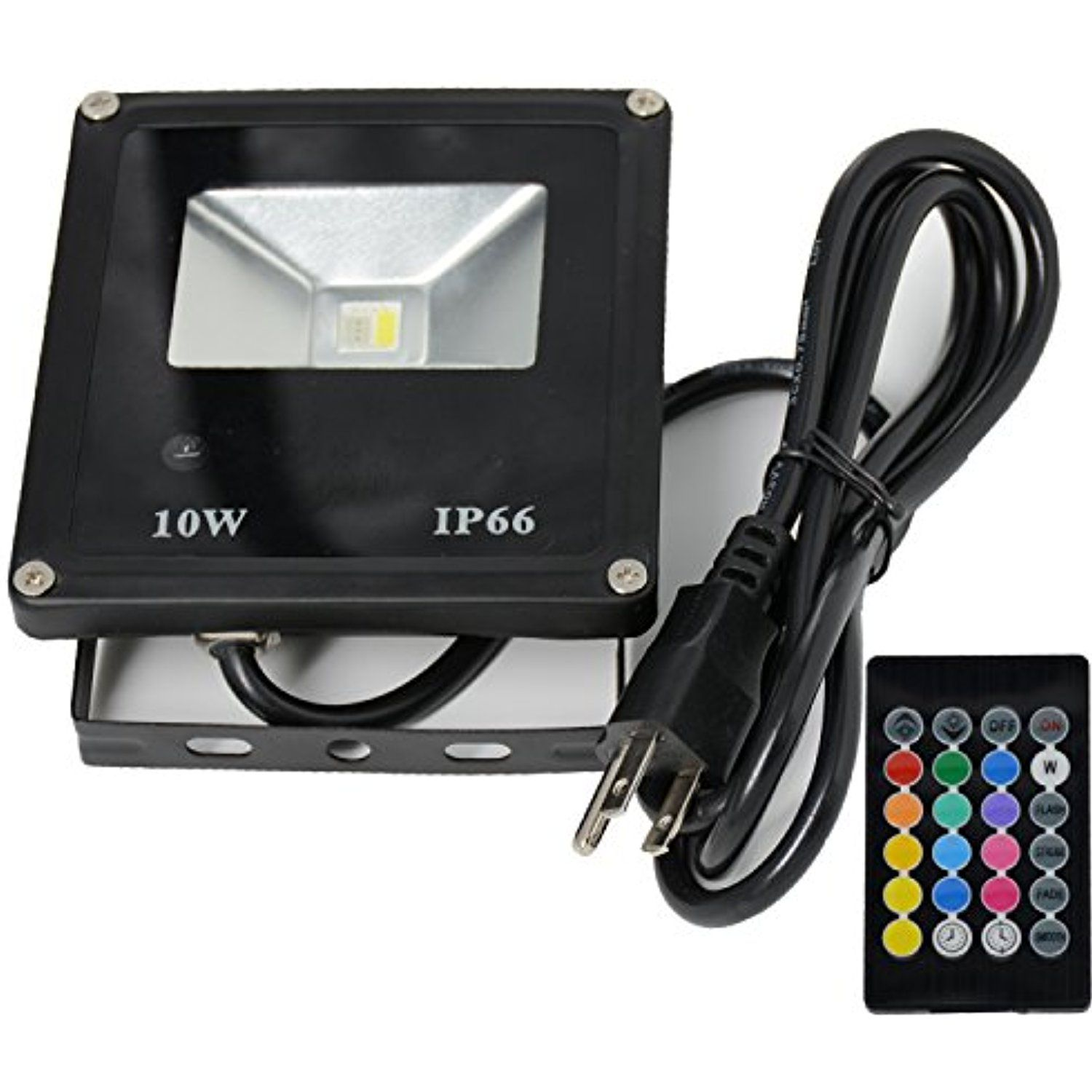 CNSUNWAY 10W Waterproof LED Flood Light, Color Changing