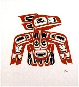 """Raven""  Walter Joseph Jr. (Haida)  Serigraph print edition/225  13"" X 14"""