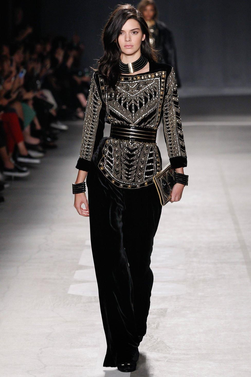 073c59d4 See every look from the Balmain x H&M Collaboration Collection runway show