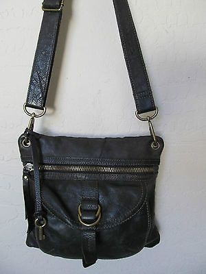 nice Fossil Sutter Cross Body Bag Handbag Black Leather Slim - For Sale View more at http://shipperscentral.com/wp/product/fossil-sutter-cross-body-bag-handbag-black-leather-slim-for-sale/