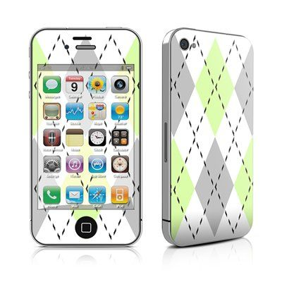 Mint Argyle Design Protective Skin Decal Sticker for Apple iPhone 4 / 4S 16GB 32GB 64GB $9.99