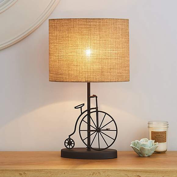 Otranto Penny Farthing Table Lamp Dunelm Table Lamp Lamp Bedside Table Lamps