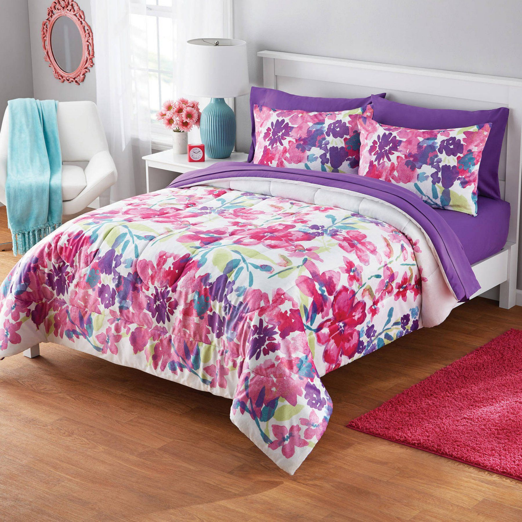 Watercolor Floral Bedding Set By Your Zone Girl S Floral