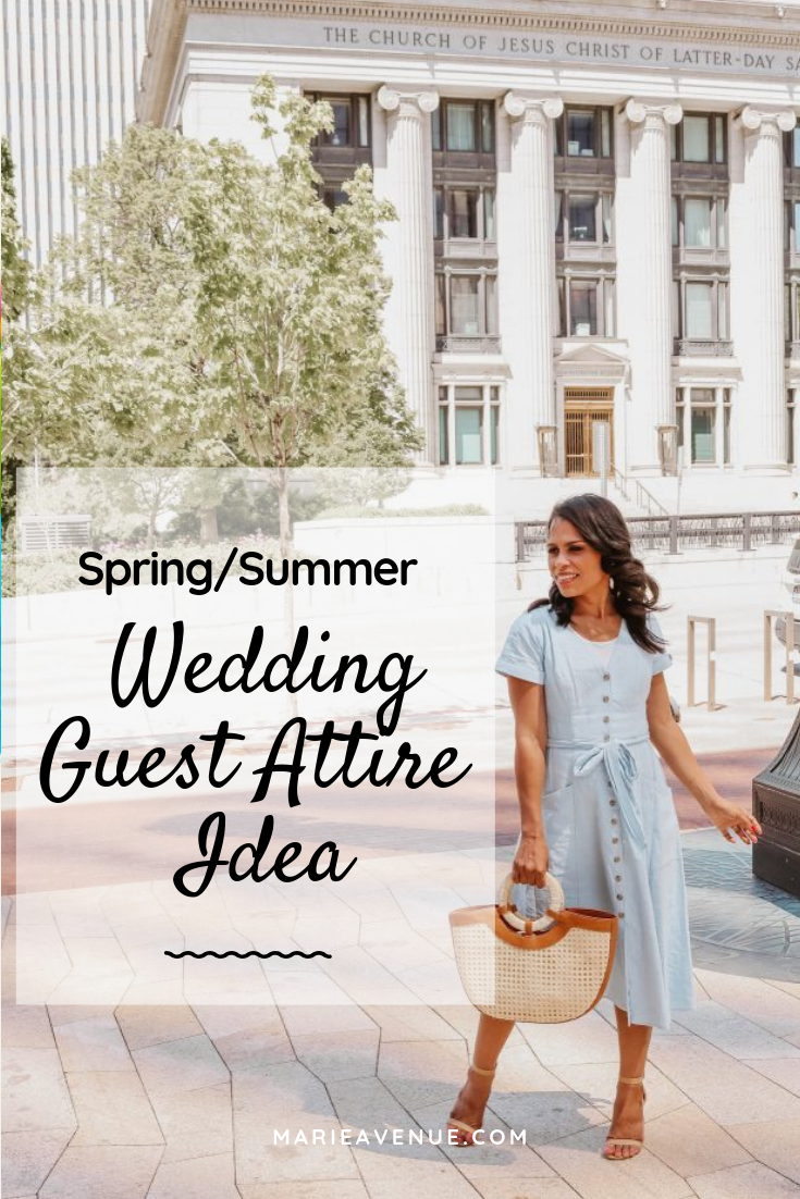 The Perfect Dress For A Spring Morning Wedding Guest Wedding Guest Attire Weddingguestoutfit Wedd Wedding Attire Guest Guest Attire Summer Wedding Outfits [ 1102 x 735 Pixel ]