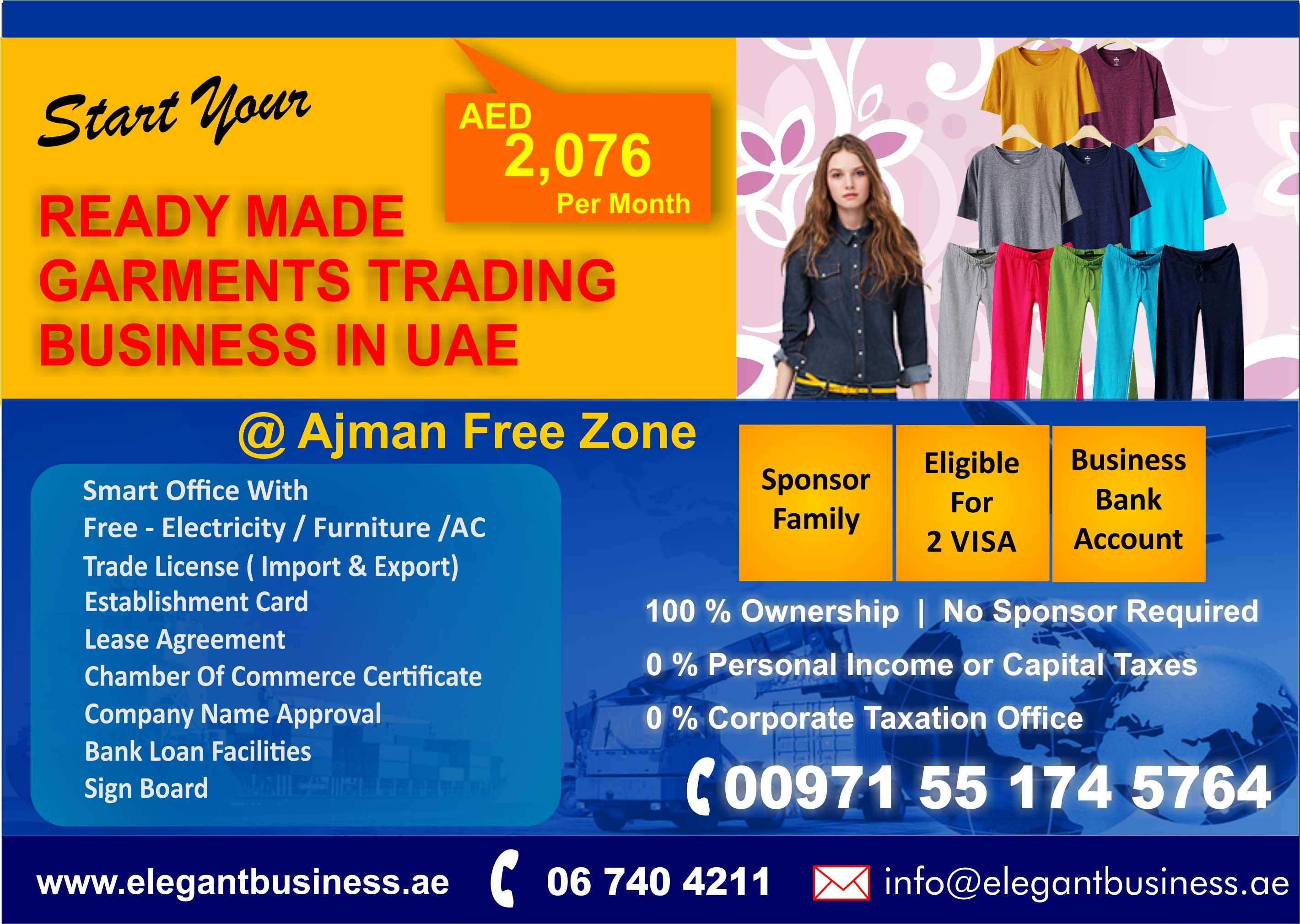 Elegant Business Services Ready Made Garments Trading License