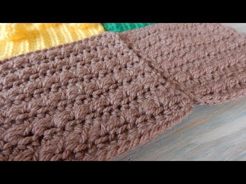 How to Crochet Bead Stitch for a Ploughed Field - CAL Ep4 Part 2 Road Play Mat - YouTube