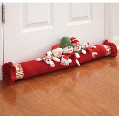Cubre bajo puertas proyectos para navidad pinterest - Manualidades navidad 2017 ...