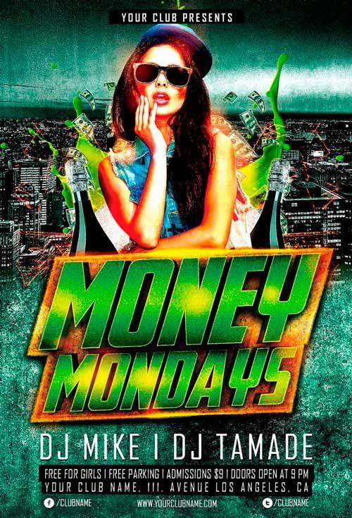 Money Monday Party Flyer Template Flyers Pinterest Party Flyer