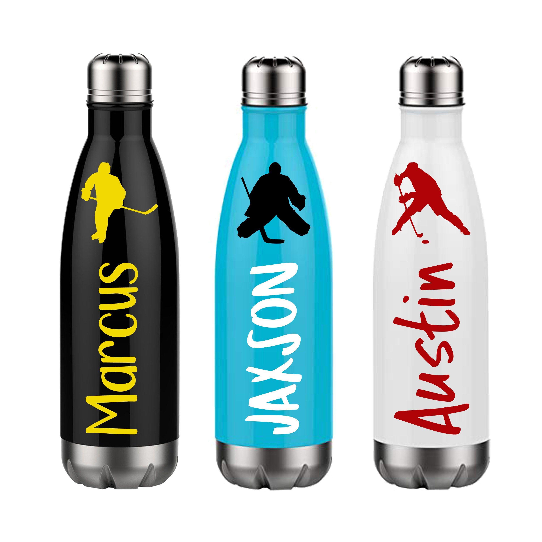 Hockey Stainless Steel Water Bottle Hockey Coach Gift Hockey Etsy In 2020 Water Bottle Hockey Player Gifts Stainless Steel Water Bottle